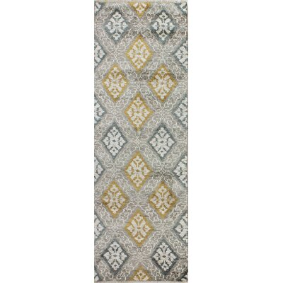 Hylan Hand Knotted Cotton Beige/Gold Area Rug Size: Runner 26 x 8
