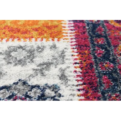Arlingham Gray/Red Area Rug Size: Rectangle 86 x 116
