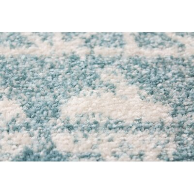 Arlingham Aqua Area Rug Size: Rectangle 36 x 56