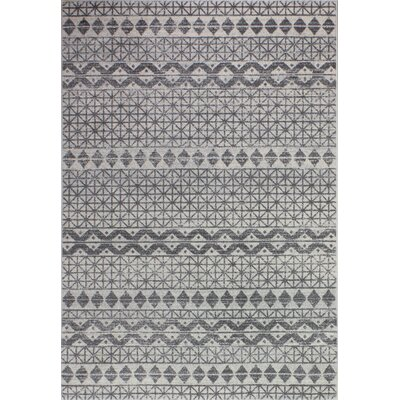 Arlingham Ivory/Gray Area Rug Size: Rectangle 86 x 116