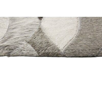 Breton Hide Hand Woven Gray/Cream Area Rug Size: Rectangle 9 x 12