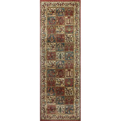 Tonia Brown/Ivory Area Rug Rug Size: Runner 27 x 10