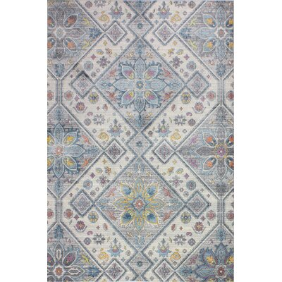 Goldie Ivory/Gray Area Rug Rug Size: Rectangle 6 4 x 8