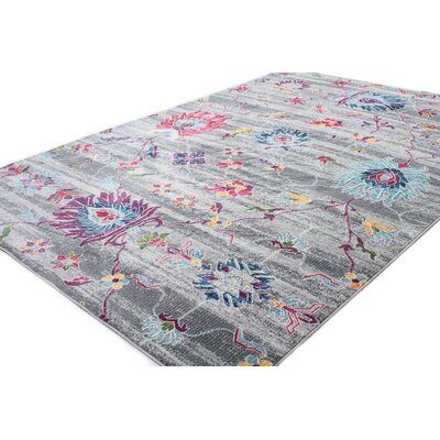 Goldie Gray Area Rug Rug Size: Rectangle 5 x 7 8