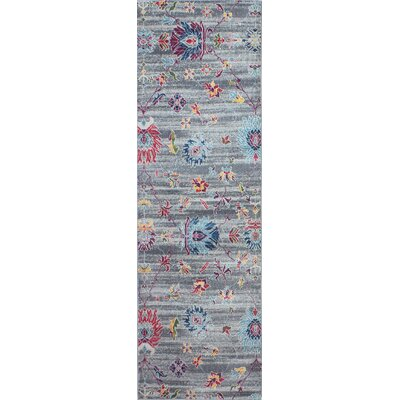 Goldie Gray Area Rug Rug Size: Runner 27 x 8