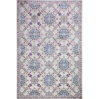 Goldie Ivory Floral Area Rug Rug Size: Rectangle 6 4 x 8