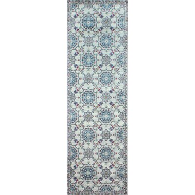 Goldie Ivory Floral Area Rug Rug Size: Runner 27 x 8