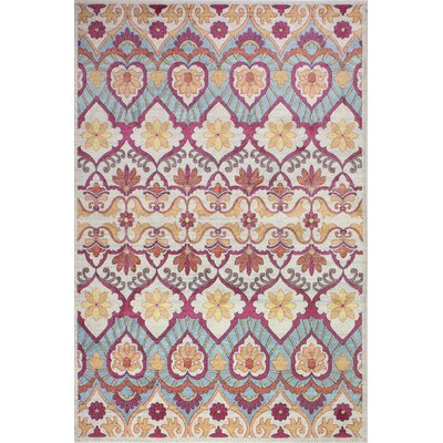 Goldie Traditional Ivory Area Rug Rug Size: Rectangle 5 x 7 8