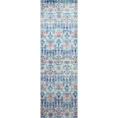 Goldie Light Blue Area Rug Rug Size: Runner 27 x 8