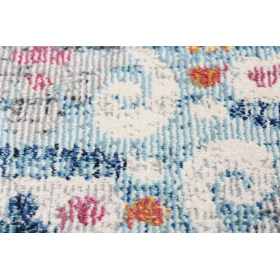 Goldie Light Blue Area Rug Rug Size: Rectangle 5 x 7 8