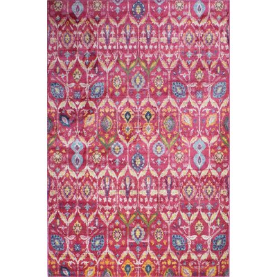 Goldie Fuchsia Area Rug Rug Size: Rectangle 6 4 x 8