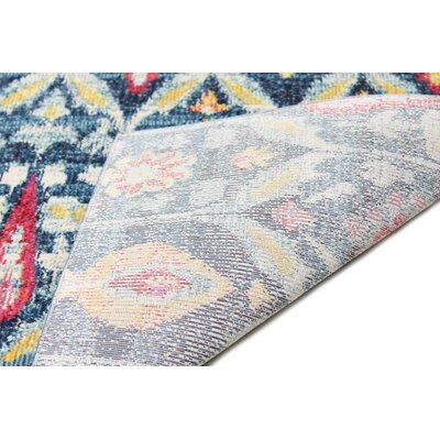 Goldie Navy Floral Area Rug Rug Size: Rectangle 4 x 6