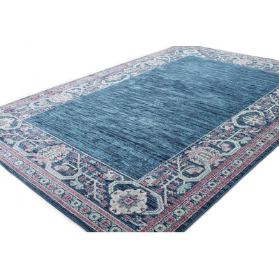 Goldie Navy Area Rug Rug Size: Rectangle 5 x 7 8