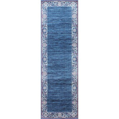 Goldie Navy Area Rug Rug Size: Runner 27 x 8