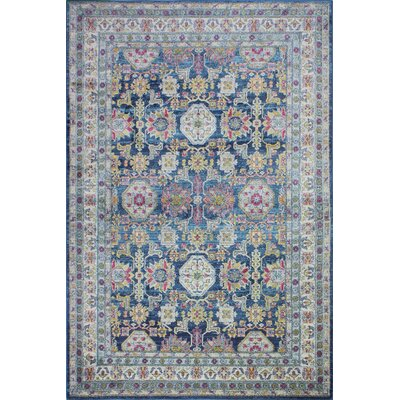 Goldie Navy Geometric Area Rug Rug Size: Rectangle 4 x 6