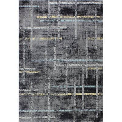 Sanda Gray Area Rug Rug Size: Rectangle 4 x 6