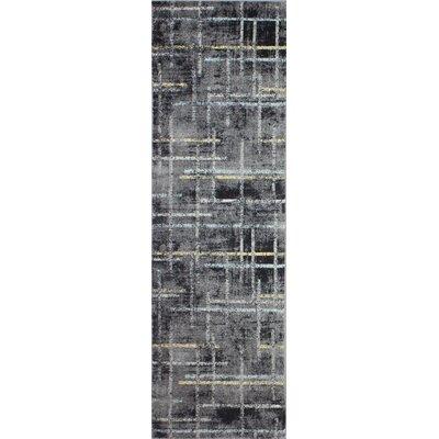 Sanda Gray Area Rug Rug Size: Runner 27 x 8