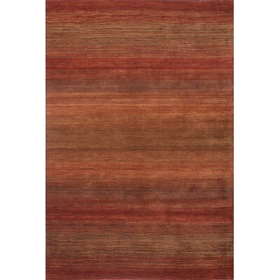 Napoleon Handmade Wool Rust Area Rug Rug Size: Rectangle 5 x 8