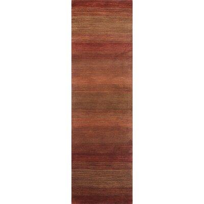 Napoleon Handmade Wool Rust Area Rug Rug Size: Runner 27 x 8