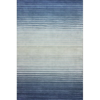 Napoleon Handmade Wool Blue Area Rug Rug Size: Rectangle 4 x 6