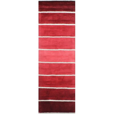 Romo Handmade Wool Red Area Rug Rug Size: Runner 27 x 8