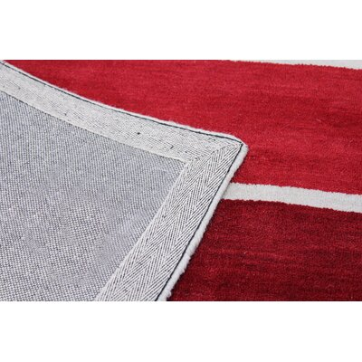 Romo Handmade Wool Red Area Rug Rug Size: Rectangle 4 x 6