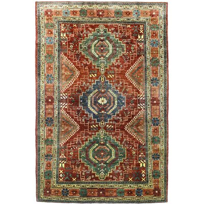 One-of-a-Kind Harrop Hand Woven Wool Rust Area Rug
