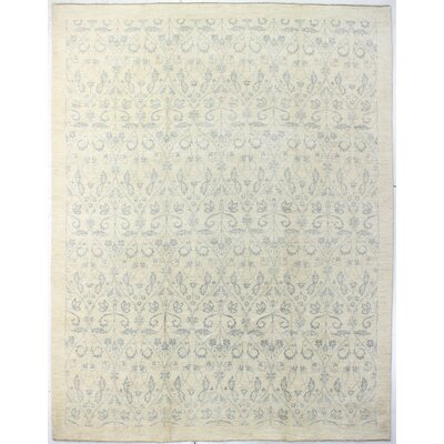 One-of-a-Kind Hartzell Hand Woven Wool Ivory Area Rug