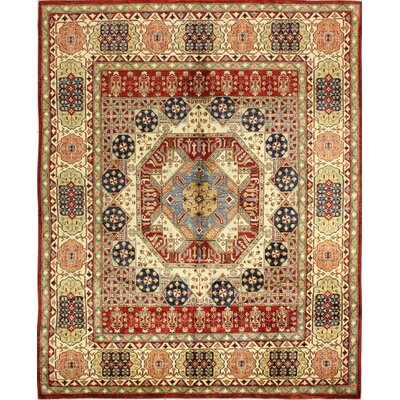 One-of-a-Kind Harrod Hand Woven Wool Red/Brown/Beige Area Rug