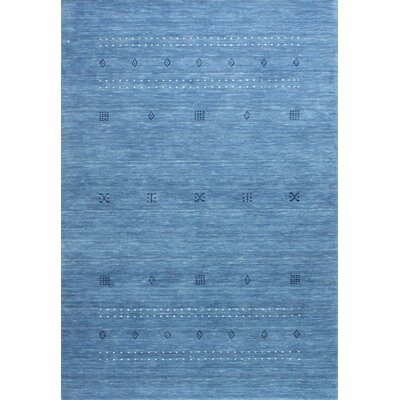 One-of-a-Kind Hartzler Hand Woven Wool Blue Area Rug