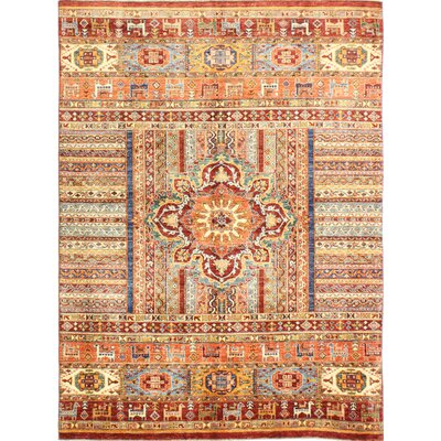 One-of-a-Kind Hartness Hand Woven Wool Orange/Brown Area Rug
