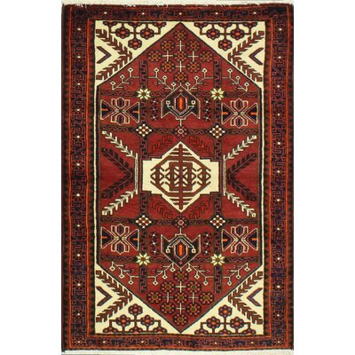 One-of-a-Kind Hasse Hand Woven Wool Red/Tan Area Rug