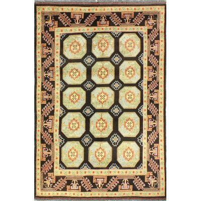 One-of-a-Kind Hartland Hand Woven Wool Beige/Black Area Rug