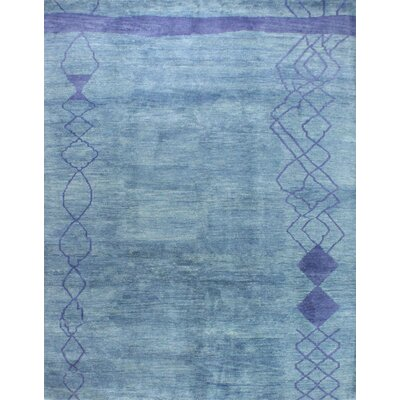 One-of-a-Kind Harriss Hand Woven Wool Blue Area Rug