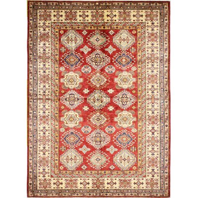 One-of-a-Kind Harrod Hand Woven Wool Red/Beige Area Rug