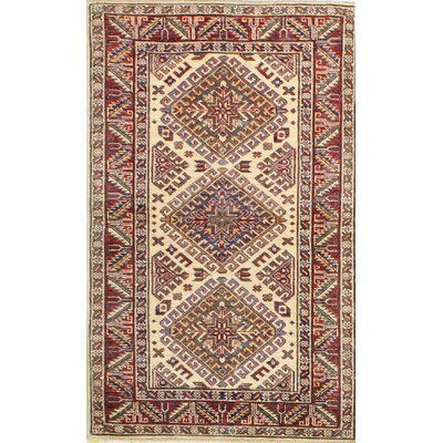 One-of-a-Kind Harrod Hand Woven Wool Red/Ivory Area Rug