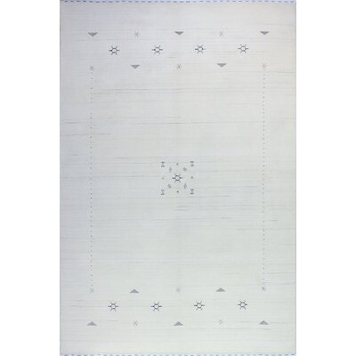 One-of-a-Kind Hartzler Hand Woven Wool Ivory Area Rug