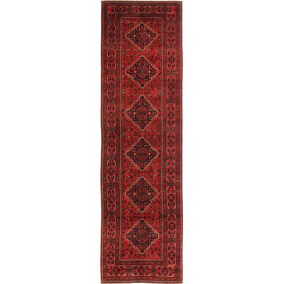 One-of-a-Kind Hartline Hand Woven Wool Red Area Rug