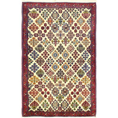 One-of-a-Kind Hasler Hand Woven Wool Ivory/Red/Green Area Rug