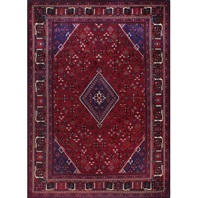 One-of-a-Kind Hartl Hand Woven Wool Rust Area Rug