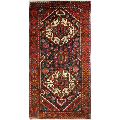 One-of-a-Kind Hartshorn Hand Woven Wool Red/Dark Blue Area Rug