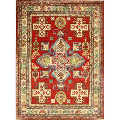 One-of-a-Kind Harton Hand Woven Wool Red Area Rug
