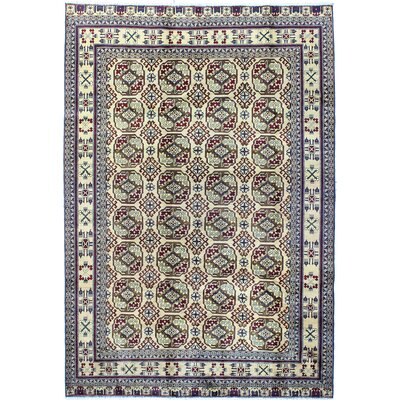One-of-a-Kind Harvin Hand Woven Wool Beige Area Rug