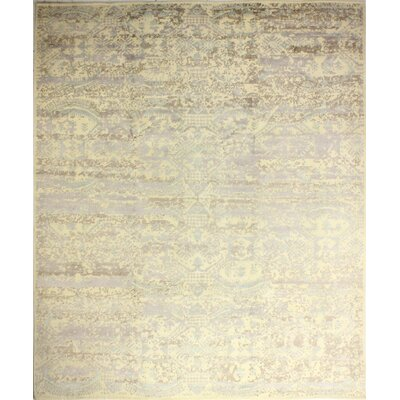 One-of-a-Kind Clausen Hand Woven Wool Beige Area Rug
