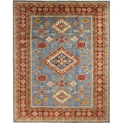 One-of-a-Kind Harrod Hand Woven Wool Light Blue/Red Area Rug