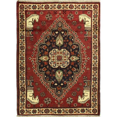 One-of-a-Kind Hartin Hand Woven Wool Red/Brown/Beige Area Rug