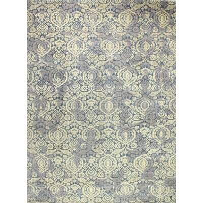 One-of-a-Kind Miliano Hand Woven Wool Navy Area Rug