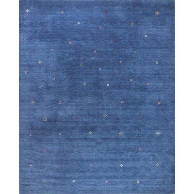 One-of-a-Kind Hartzler Hand Woven Wool Dark Blue Area Rug