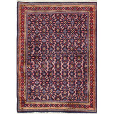 One-of-a-Kind Hartsock Hand Woven Wool Dark Blue/Purple/Red Area Rug