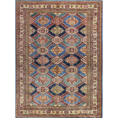 One-of-a-Kind Harrod Hand Woven Wool Brown/Blue Area Rug